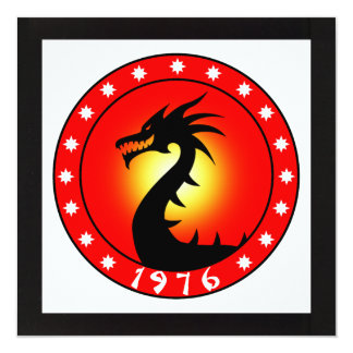 1976 Year of the Dragon Card