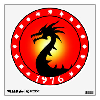 1976 Year of the Dragon Wall Decal