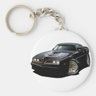 1977-78 Trans Am Black Basic Round Button Keychain
