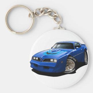 1977-78 Trans Am Blue Basic Round Button Keychain