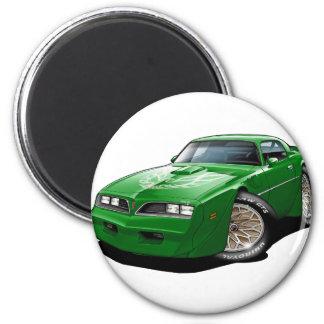 1977- 78 Trans Am Green Car 2 Inch Round Magnet