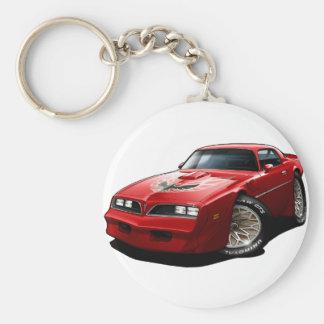 1977-78 Trans Am Red Basic Round Button Keychain