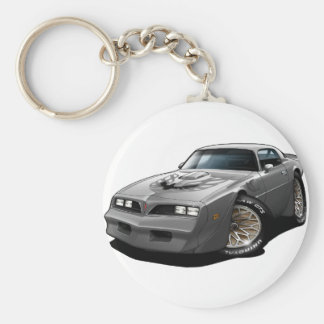 1977-78 Trans Am Silver Basic Round Button Keychain