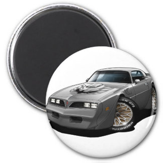 1977-78 Trans Am Silver 2 Inch Round Magnet