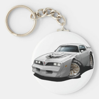 1977-78 Trans Am White Basic Round Button Keychain