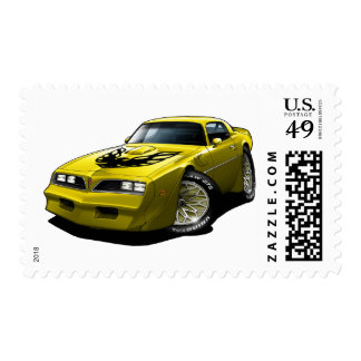 1977-78 Trans Am Yellow Postage Stamp