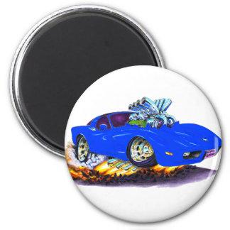 1977-79 Corvette Blue Car 2 Inch Round Magnet