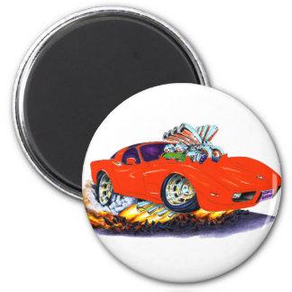 1977-79 Corvette Red Car 2 Inch Round Magnet