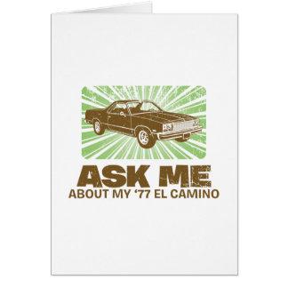 1977 Chevrolet El Camino Greeting Card