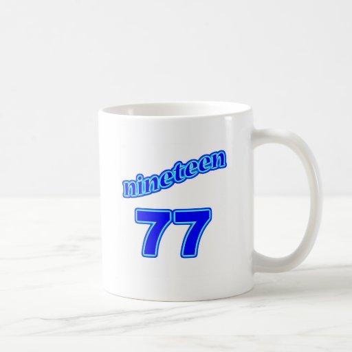 1977 diecinueve 77 taza básica blanca