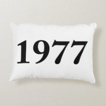 1977 for birthdays, anniversaries, celebrations decorative pillow