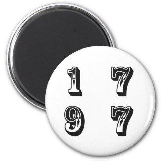 1977 2 INCH ROUND MAGNET