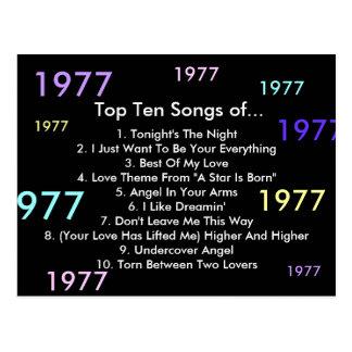 1977 Songs Postcard