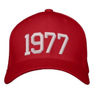 1977 Year Embroidered Baseball Hat