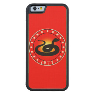 1977 Year of the Snake Carved® Maple iPhone 6 Bumper Case