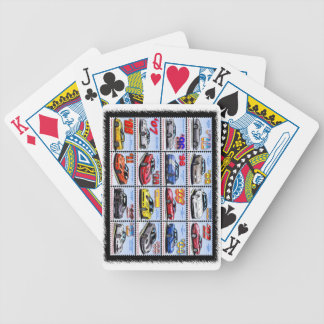 1978-2013 Special Edition Corvette Montage Bicycle Playing Cards