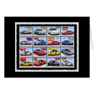 1978-2013 Special Edition Corvette Montage Greeting Card