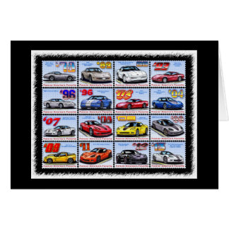 1978-2013 Special Edition Corvette Montage Greeting Cards