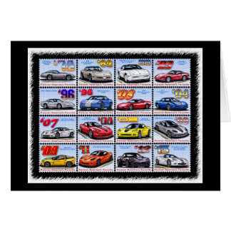 1978-2013 Special Edition Corvette Montage Stationery Note Card