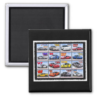 1978-2013 Special Edition Corvette Montage 2 Inch Square Magnet