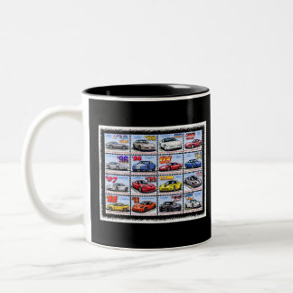 1978-2013 Special Edition Corvette Montage Two-Tone Coffee Mug