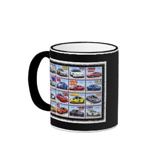 1978-2013 Special Edition Corvette Montage Ringer Coffee Mug