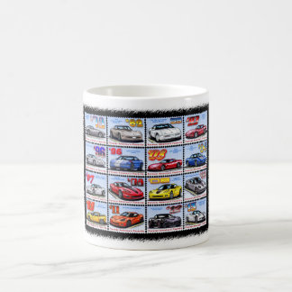 1978-2013 Special Edition Corvette Montage Classic White Coffee Mug