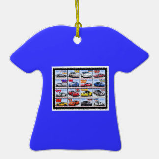 1978-2013 Special Edition Corvette Montage Double-Sided T-Shirt Ceramic Christmas Ornament