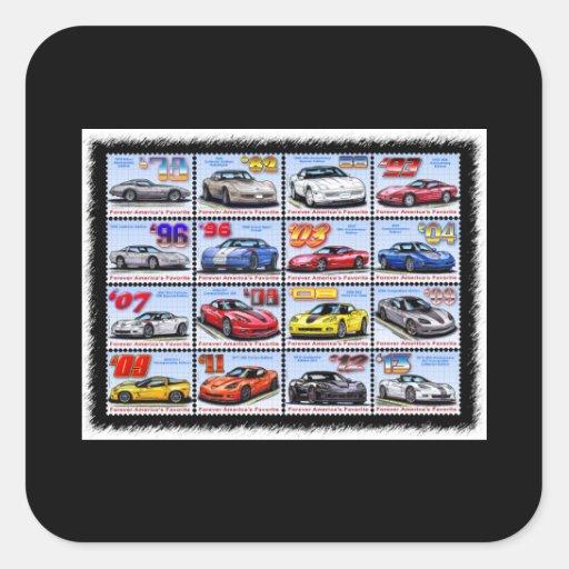 1978-2013 Special Edition Corvette Montage Square Sticker