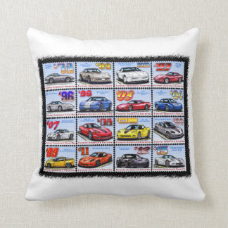 1978-2013 Special Edition Corvette Montage Throw Pillow