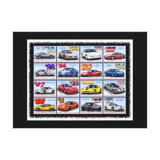 1978-2013 Special Edition Corvettes Montage Stretched Canvas Prints
