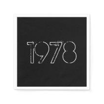 1978 40th Birthday Year Paper Napkin