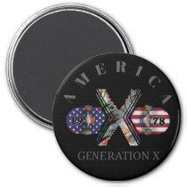 1978 Generation X American Skateboard Magnet