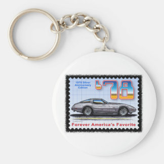 1978 Silver Anniversary Special Edition Corvette Keychain