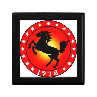 1978 Year of the Horse Jewelry Box