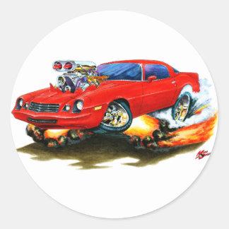 1979-81 Camaro Red Car Round Sticker