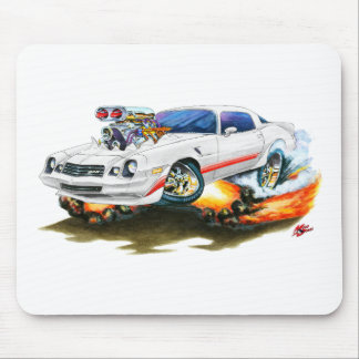 1979-81 Camaro Z28 White-Red Car Mouse Pad