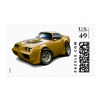 1979-81 Trans Am Gold Car Postage Stamps