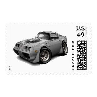 1979-81 Trans Am Grey Car Postage Stamp