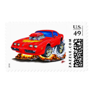 1979-81 Trans Am Red Car Stamp