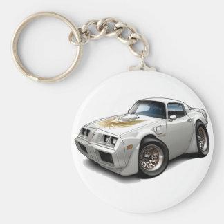 1979-81 Trans Am White Car Keychain