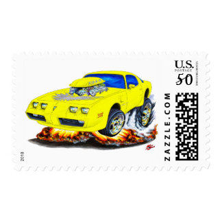 1979-81 Trans Am Yellow-Grey Car Postage