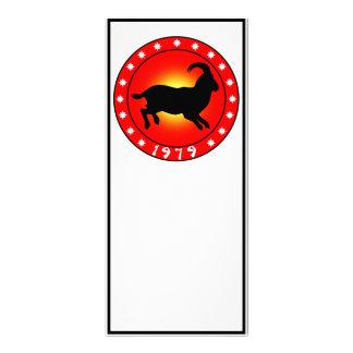 1979 años del espolón/de las ovejas/de la cabra tarjeta publicitaria a todo color
