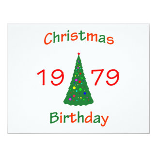 1979 Christmas Birthday Card