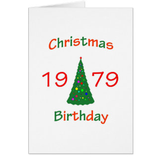 1979 Christmas Birthday Card