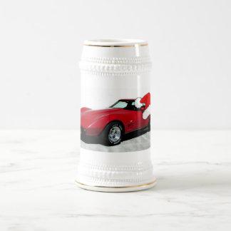 1979 Christmas Red Corvette Beer Stein