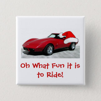 1979 Christmas Red Corvette Button