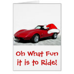 1979 Christmas Red Corvette Greeting Card