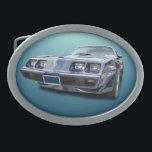 """1979 PONTIAC FIREBIRD TRANS AM OVAL BELT BUCKLE<br><div class=""""desc"""">A hot car for a cool belt buckle</div>"""