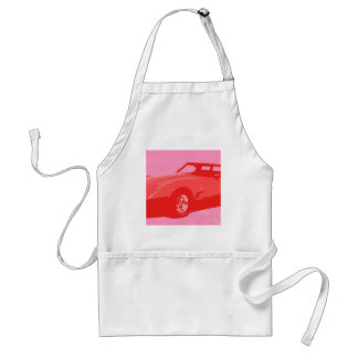 1979 Red Classic Car Aprons